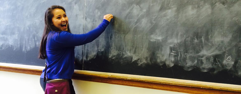writing on a chalk board